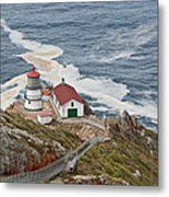 Stairway Leading To Point Reyes Lighthouse Metal Print