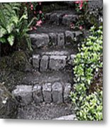 Stairway Path To Gardens Metal Print