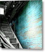 Stairway To Abandoned Metal Print by Amy Sorrell