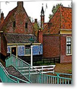 Stairway To Enkhuizen From The Dike-netherlands Metal Print