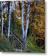 Stairway To Fall Metal Print