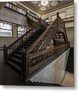 Stairwell Chicago Cultural Center Metal Print