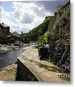 Staithes Harbour Metal Print