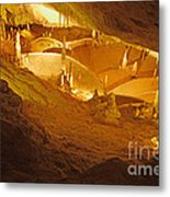 Stalactites And Stalagmites In Cave Ibiza Metal Print