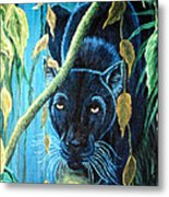 Stalking Black Panther Metal Print