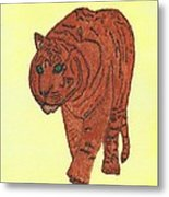 Stalking Tiger Metal Print