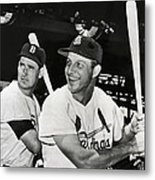 Stan Musial And Ted Williams Metal Print