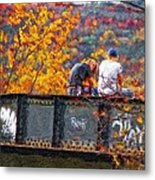 Stand By Me Impasto Metal Print