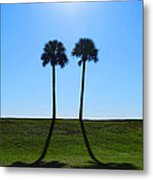 Stand By Me - Palm Tree Art By Sharon Cummings Metal Print
