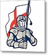 Stand Tall Proud English Happy St George Greeting Card Metal Print by Aloysius Patrimonio