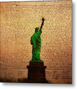 Stand Up For Freedom Metal Print