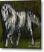 Standing Horse Profile Metal Print