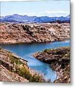 Standing In A Ravine At Lake Mead Metal Print
