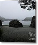 Standing Strong Against The Tide Metal Print