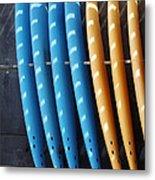 Standing Surf Boards Metal Print
