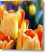 Standing Tall Tulips Metal Print