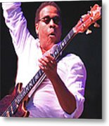 Stanely Clarke Bass Master Metal Print