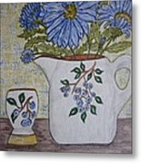 Stangl Blueberry Pottery Metal Print