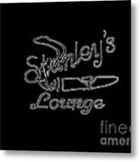 Stanley's Lounge In White Neon Metal Print