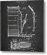 Stanton Bass Drum Patent Drawing From 1904 - Dark Metal Print