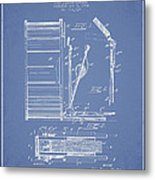 Stanton Bass Drum Patent Drawing From 1904 - Light Blue Metal Print