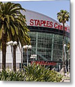 Staples Center In Los Angeles California Metal Print
