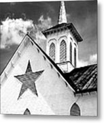 Star Barn Infrared Metal Print