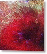 Star Burst - Red Abstract Art By Sharon Cummings Metal Print