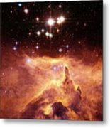 Star Cluster Pismis 24 Above Ngc 6357 Metal Print