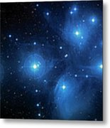 Star Cluster Pleiades Seven Sisters Metal Print by Jennifer Rondinelli Reilly - Fine Art Photography