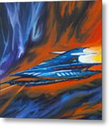 Star Cruiser Metal Print by James Christopher Hill