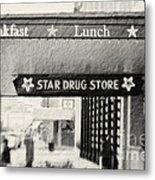 Star Drug Store Marquee Metal Print
