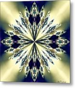 Star Jewel Fractal Metal Print
