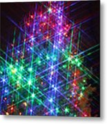 Star Like Christmas Lights Metal Print