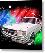 Star Of The Show - 66 Mustang Metal Print