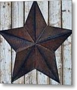 Star On Barn Wall Metal Print