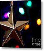 Star Ornament Metal Print