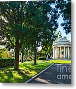 Star Over The Mausoleum - Henry And Arabella Huntington Overlooks The Gardens. Metal Print