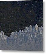 Star Shine Organ Mountains Metal Print
