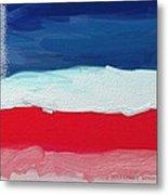 Star Spangled American Landscape Metal Print