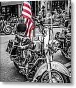 Star Spangled Harley Metal Print