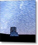 Star Trails Above Subaru Telescope Metal Print