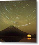Star Trails Around South Celestial Pole Metal Print