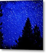 Star Trails In Night Sky Metal Print