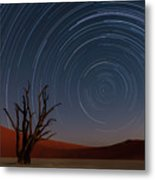 Star Trails Of Namibia Metal Print
