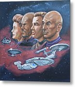 Star Trek Tribute Captains Metal Print