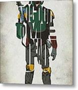 Star Wars Inspired Boba Fett Typography Artwork Metal Print