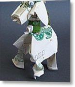 Starbucks Dog Metal Print