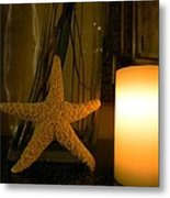 Starfish Candleglow Still Life Metal Print