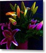 Stargazer Bouquet Metal Print
